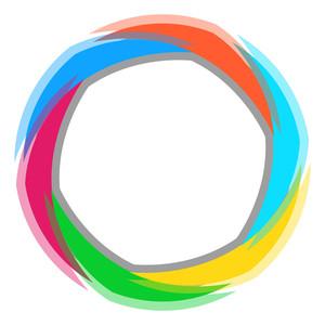 Rainbow Circle Design