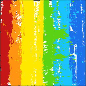 Rainbow Color Splash Grunge Background