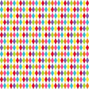 Rainbow Diamonds Pattern