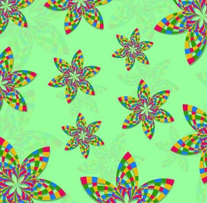 Rainbow Flowers Background