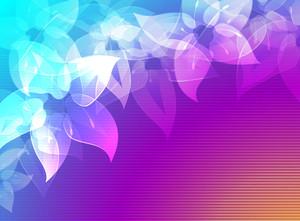 Rainbow Flowers. Vector Background.
