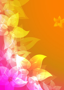 Rainbow Flowers. Vector Background.