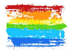 Rainbow Grunge Paint Banner