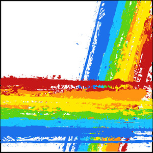 Rainbow Grunge Splash Striped Backdrop