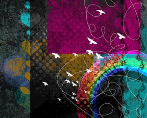 Rainbow Mystery Background