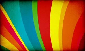 Rainbow Retro Background
