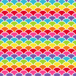 Rainbow Scales Pattern