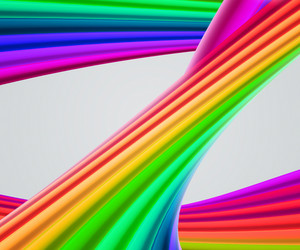 Rainbow Shapes Background