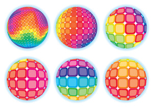Rainbow Spheres. Vector.