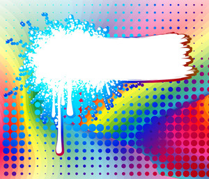 Rainbow Spray. Vector Background.
