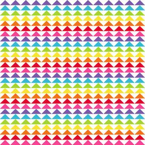 Rainbow Triangles Pattern