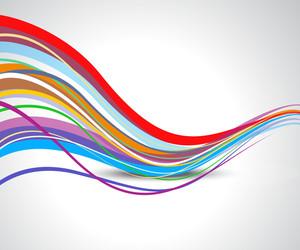 Rainbow Wavy Lines