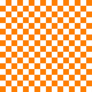 Orange And White Checkerboard Pattern
