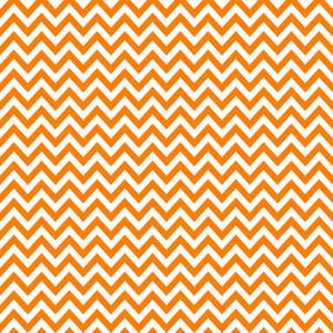 Orange And White Chevron Pattern