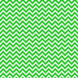 Green And White Chevron Pattern