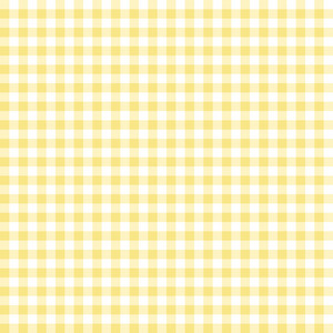 Yellow And White Gingham Pattern
