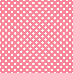 White Polka Dots Pattern On A Red Background
