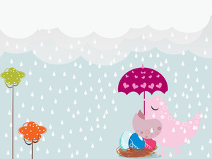 Rainy Day Background Illustration
