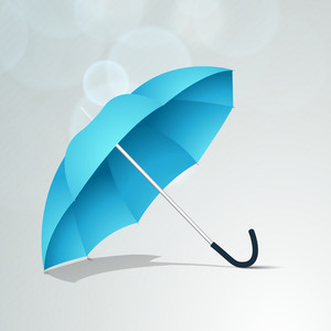 Rainy Season Background With Open Umbrella