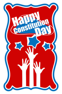 Raising Hands  Usa  Constitution Day Vector Illustration
