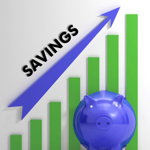 Raising Savings Chart Showing Financial Success