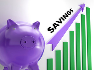 Raising Savings Chart Shows Monetary Growth