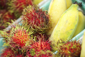 rambutan and banana