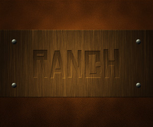 Ranch Wooden Board