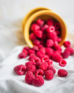 Raspberries In A Bowl