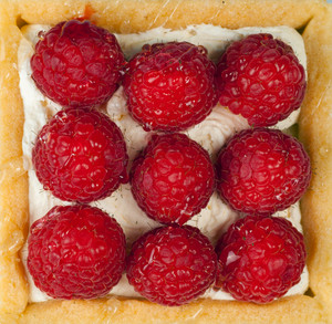 Raspberries shortcake