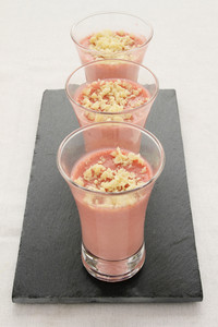 Strawberry Mousse Canape Starter