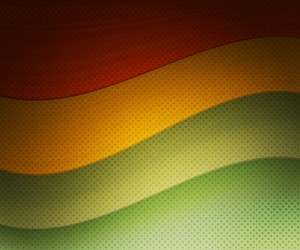 Rasta Retro Wavy Background