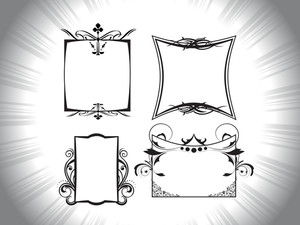Rays Background With Artistic Design Frames