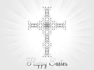 Rays Background With Decorated Cross