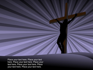 Rays Background With Jesus In Cross
