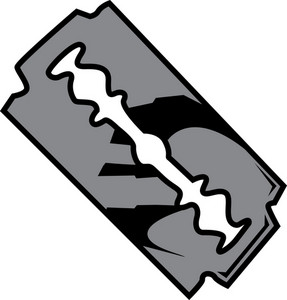 Razor Blade Vector Element