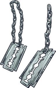 Razor Blades Vector Element