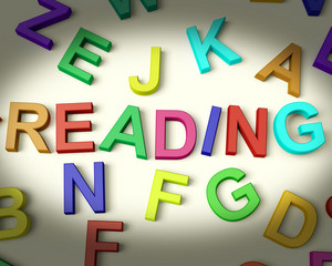 Reading Written In Plastic Kids Letters