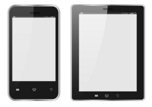 Realistic Digital Tablet Pc And Mobile Phone