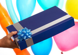 Receiving Birthday Gift Or Present