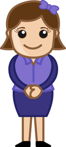Reception - Business Cartoon Character Vector