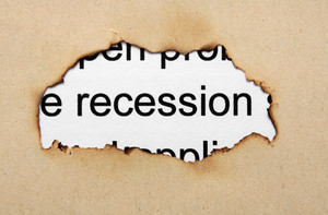 Recession Text On Paper Hole