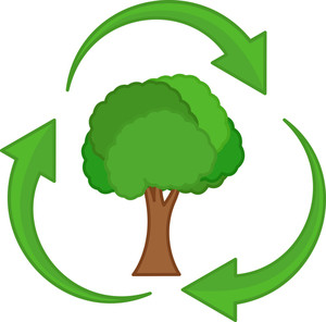 Recycle - Tree Life - Vector Character Illustration