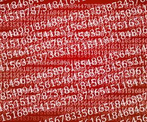 Red Abstract Numbers Background Texture
