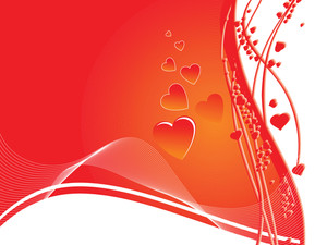 Red Abstract Valentine Card