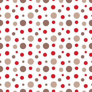 Red And Brown Polka Dots Pattern