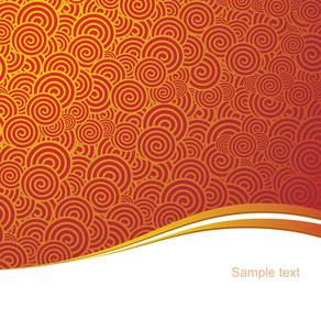 Red And Gold China Style Vector Background.