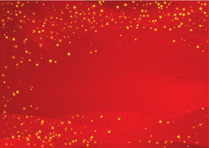 Red And Gold Christmas Background. Vector.