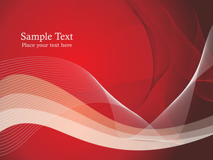 Red And White Wave Vector