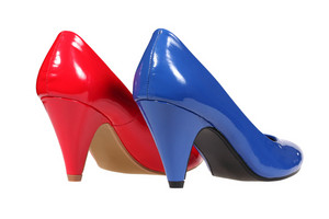 Red Andf Blue Women's Heel Shoes
